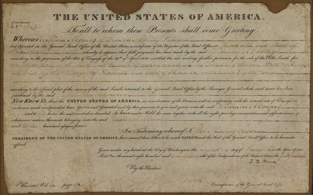 Lot 470: John Quincy Adams Signed Document