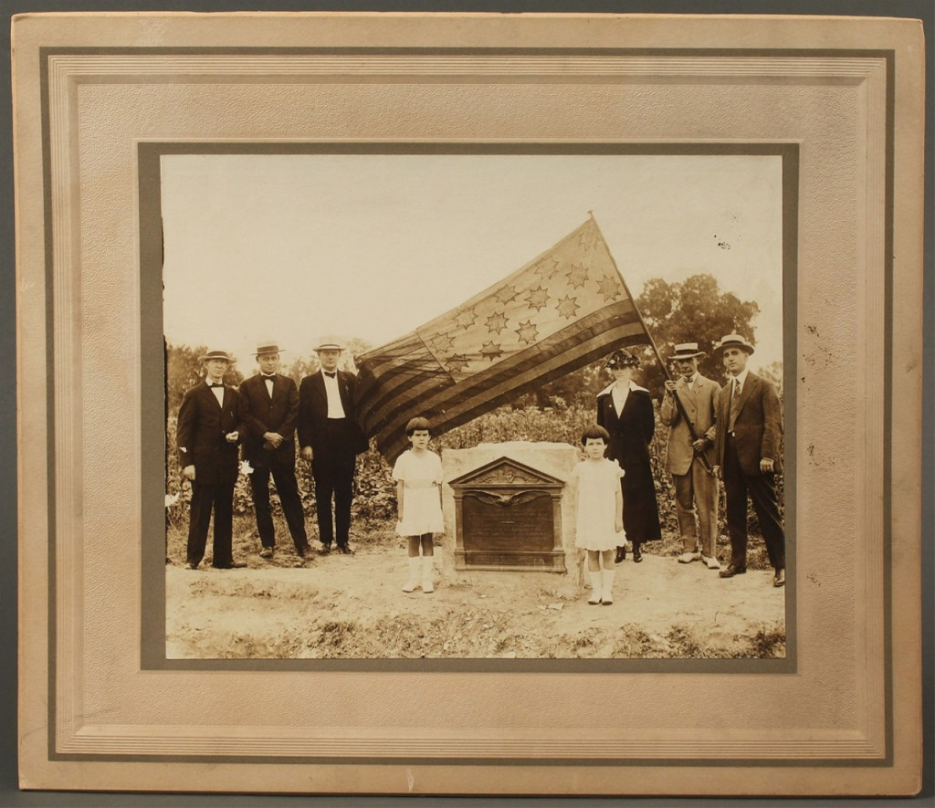 Lot 471: Photograph of Caswell Monument Dedication, NC