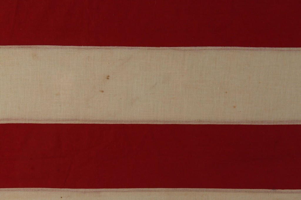 Lot 476: Large framed 48 star handmade flag
