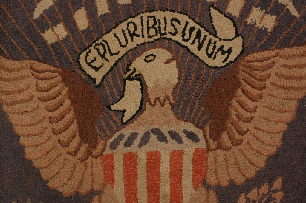 Lot 477: Presidential Seal hooked rug