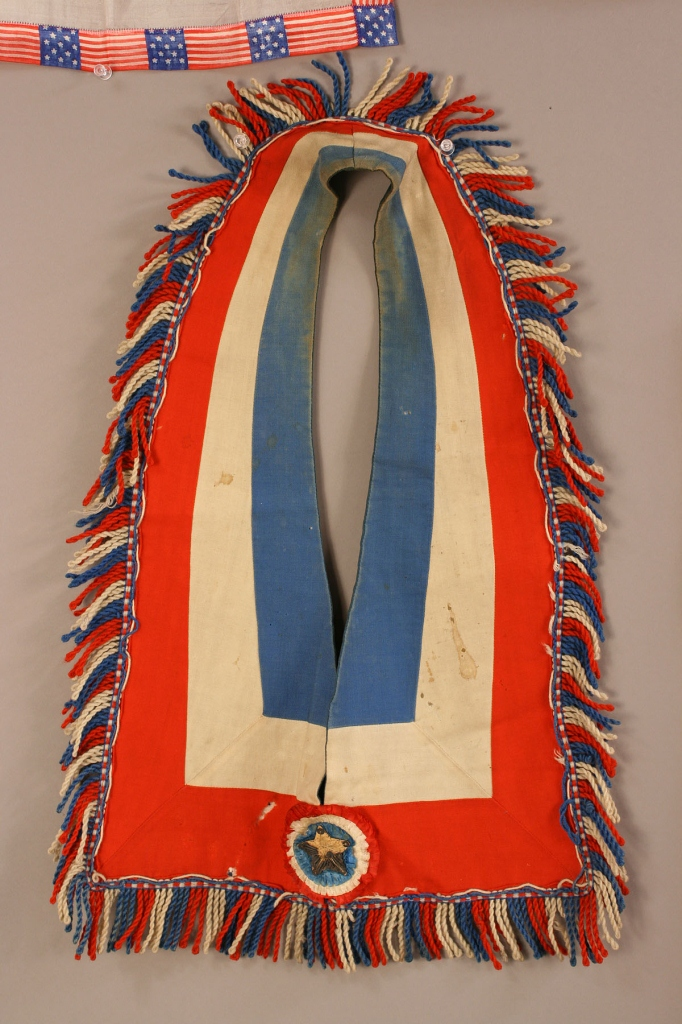 Lot 478: Two 48 Star American Flags with silk & paper items