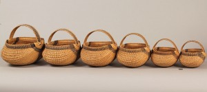 Lot 47: 6 Abraham Lincoln Logsdon Graduated Baskets, KY