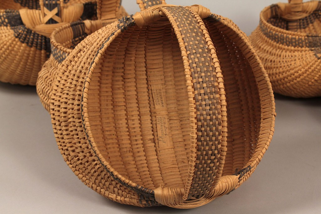 Lot 47: 6 Abraham Lincoln Logsdon Graduated Baskets, KY