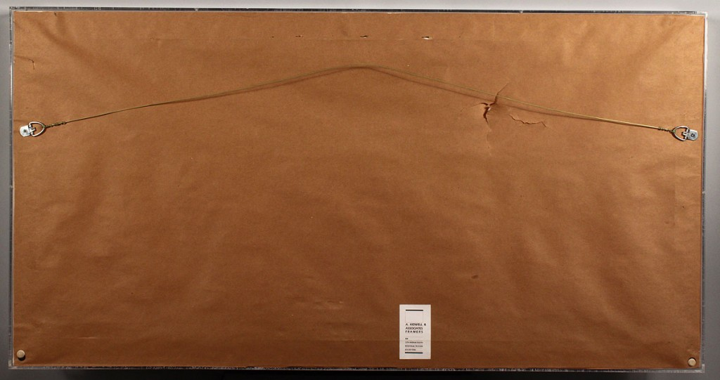 Lot 480: Cased Pleated Paper Flag Banner, Semicircular
