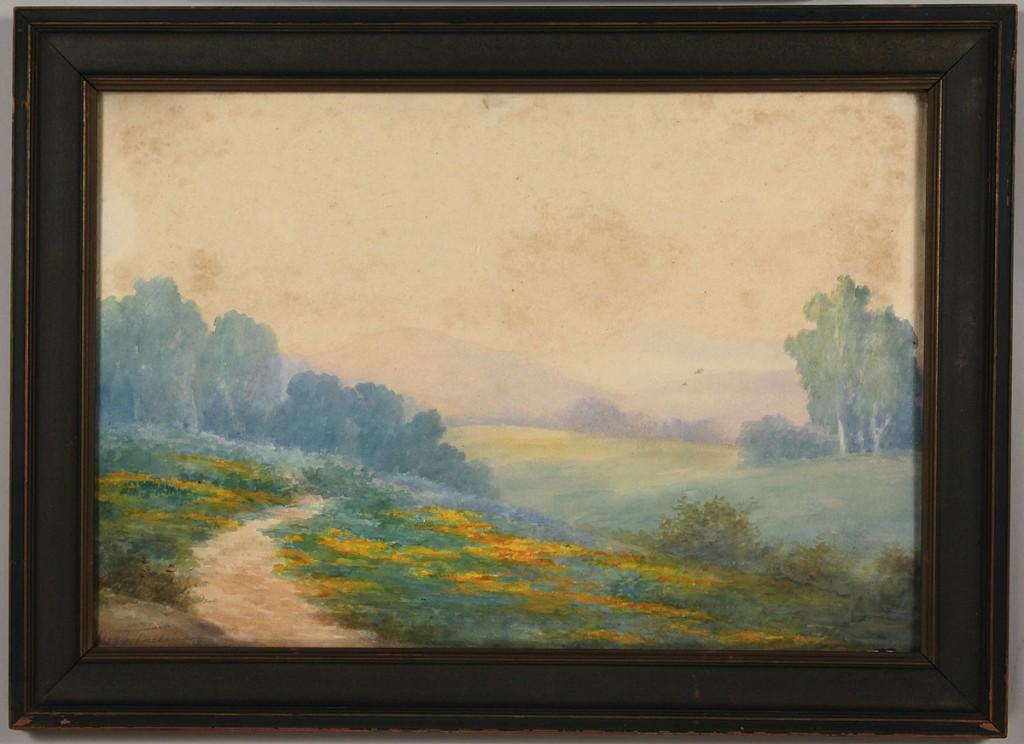 Lot 483: Pair of TN landscape watercolors by Lloyd Freeman