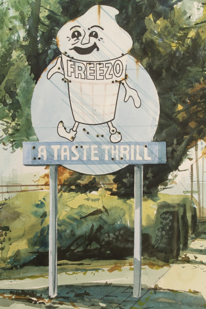 Lot 489: James Caulfield Watercolors & Study, Ice Cream Sho