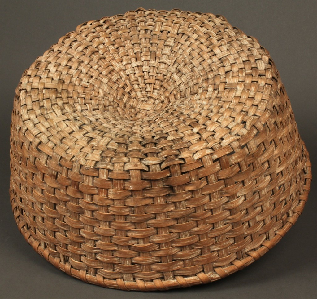 Lot 48: East TN Circular Splint Oak Basket