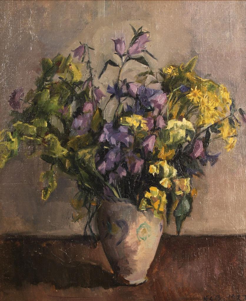 Lot 492: Oil on canvas, floral still life