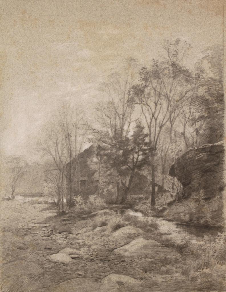Lot 493: 4 Walworth Stilson landscape drawings