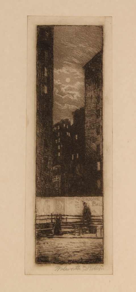 Lot 494: Grouping of Walworth Stilson Art, 9 NYC scenes