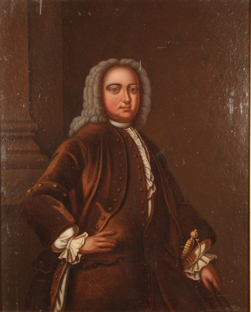 Lot 497: Portrait of an English sheriff, oil on board