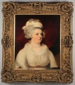 Lot 498: English School, 19th c. Portrait of Lady Campbell