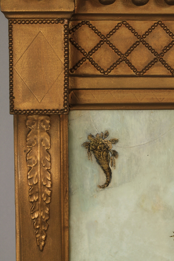 Lot 500: Gilt Carved Mirror w/ Reverse Painting