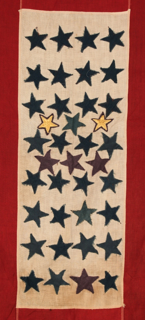 Lot 509: Unusual 38 star Service Flag & Military Pennant