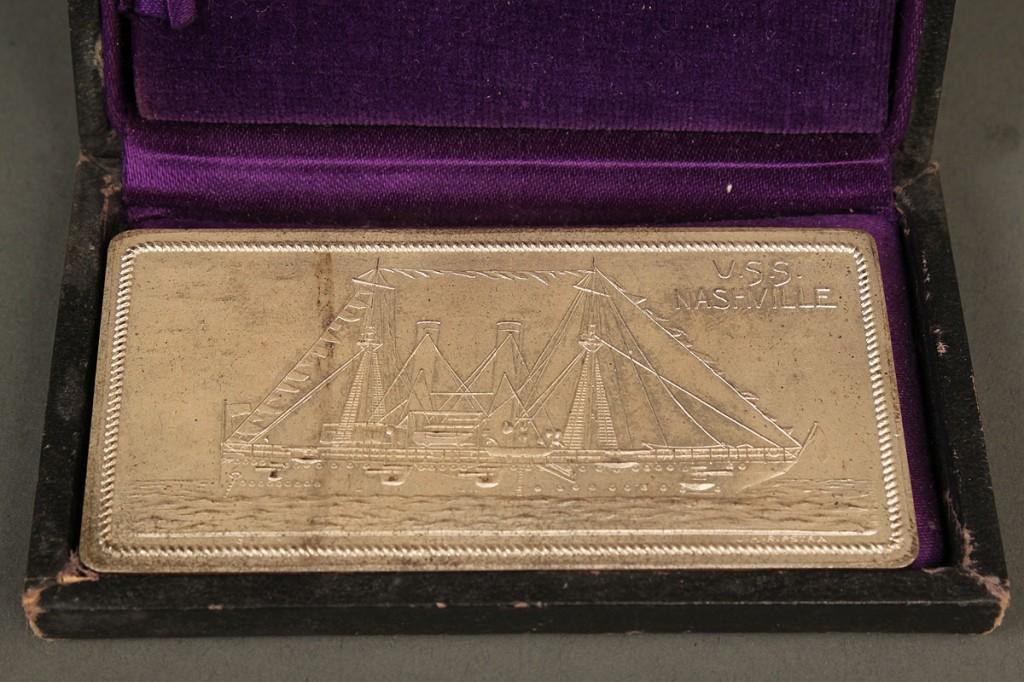 Lot 511: Silver Ingot and Ladder Badge, USS Nashville