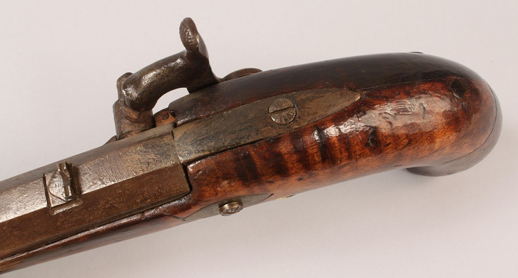 Lot 516: Southern Percussion Pistol, Kirkman, possibly TN