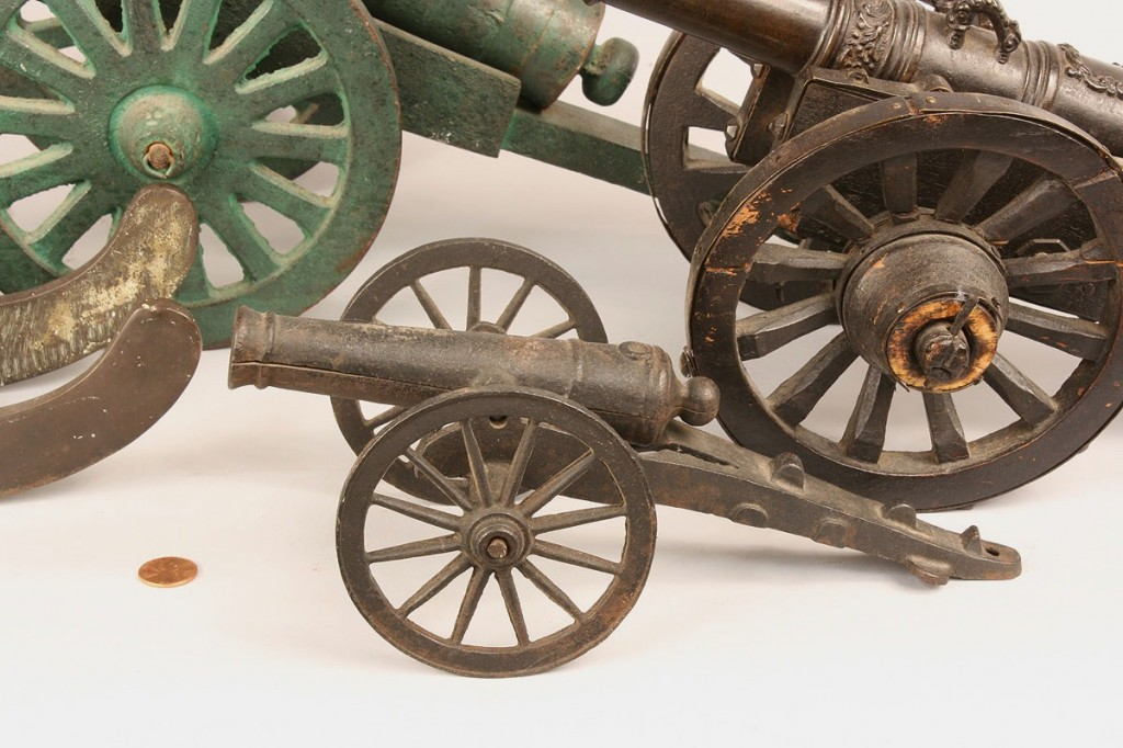 Lot 521: Lot of 4 miniature cannons