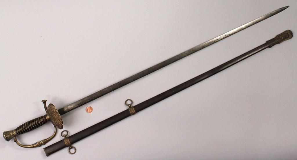Lot 522: Spanish American War or Civil War reunion Sword