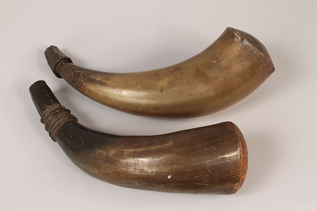 Lot 525: Lot of 3 powder horns