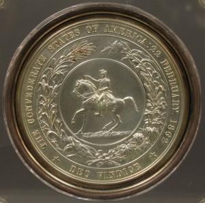 Lot 52: 1862 Confederate Seal struck in copper