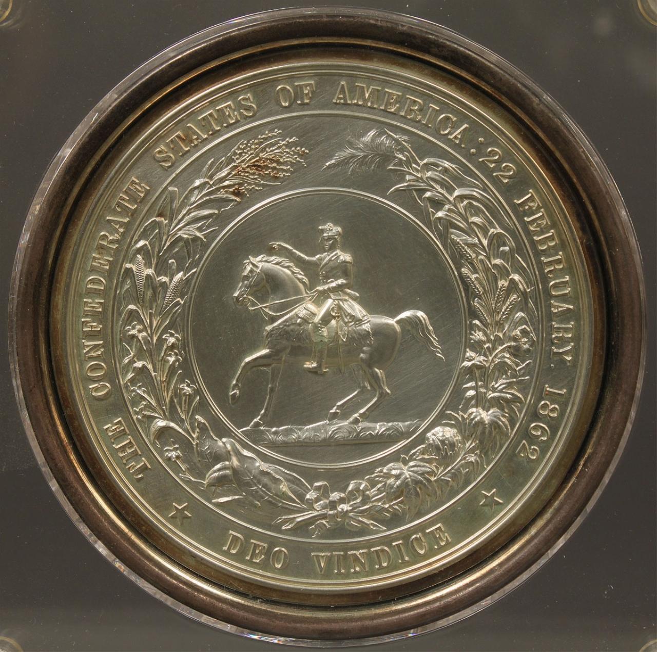 Lot 52 1862 Confederate Seal Struck In Copper