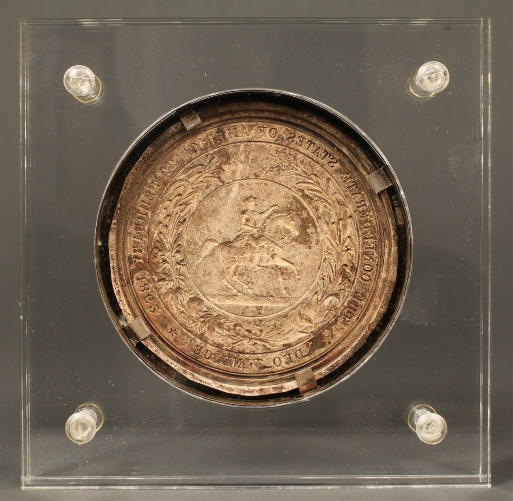 Lot 52: 1862 Confederate Seal struck in copper