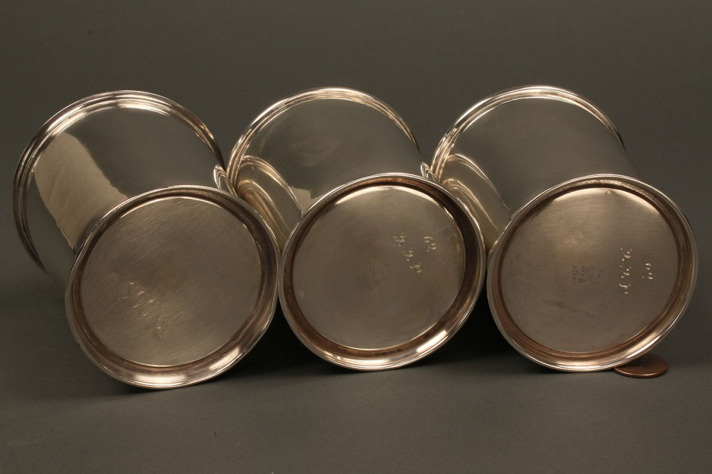 Lot 531: Lot of 3 Sterling Silver Julep Cups