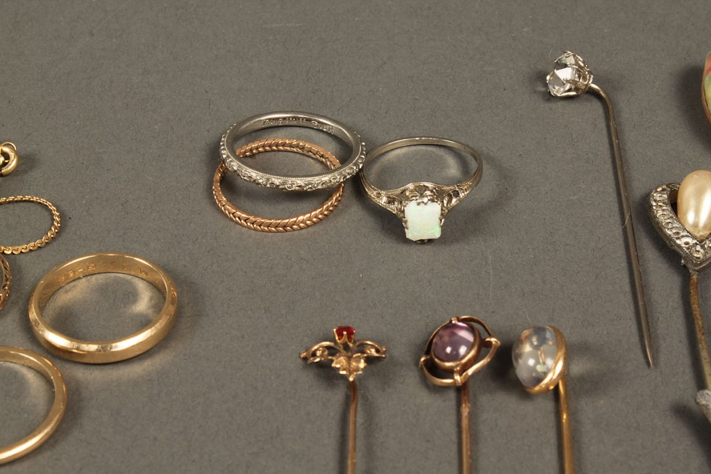 Lot 544: Lot of misc. jewelry incl. 18K, 14K & 10K gold
