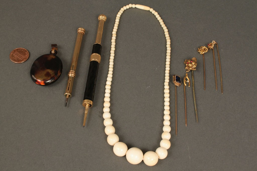 Lot 545: Lot of Jewelry & Gold Mechanical Pencils, 10 total