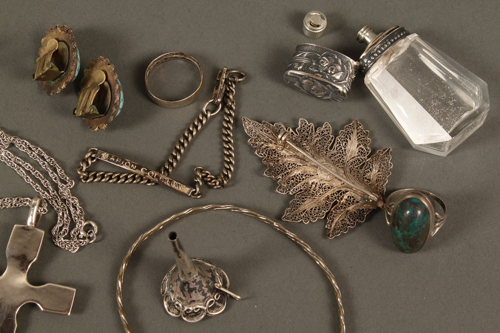 Lot 547: Assorted Grouping of Sterling Silver Jewelry