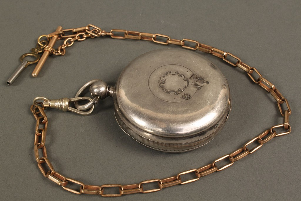 Lot 548: 4 men's pocket watches & 1 ladies pendant watch