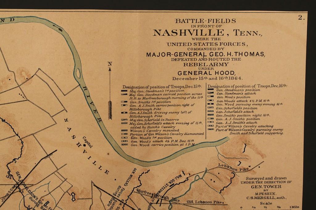 Lot 54: Battle of Nashville map