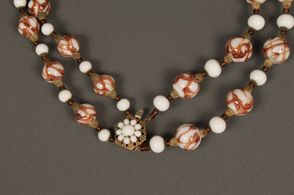Lot 550: 9 signed Miriam Haskell Jewelry Items