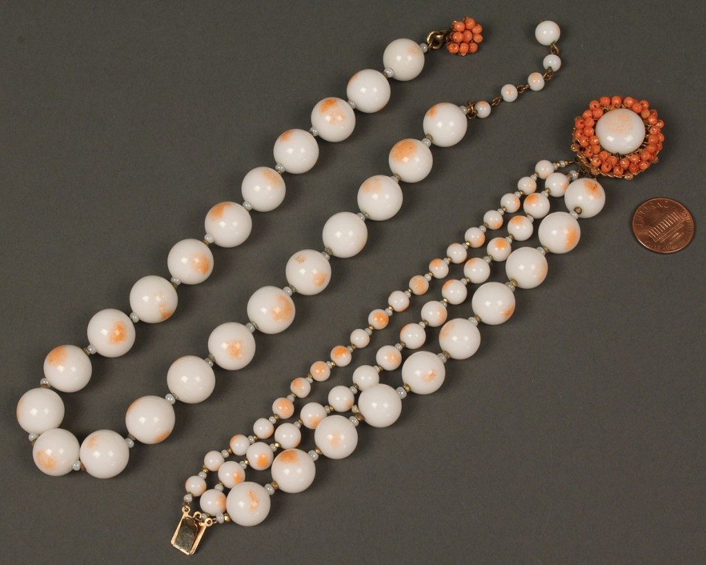 Lot 551: 6 Miriam Haskell Jewelry Items, signed