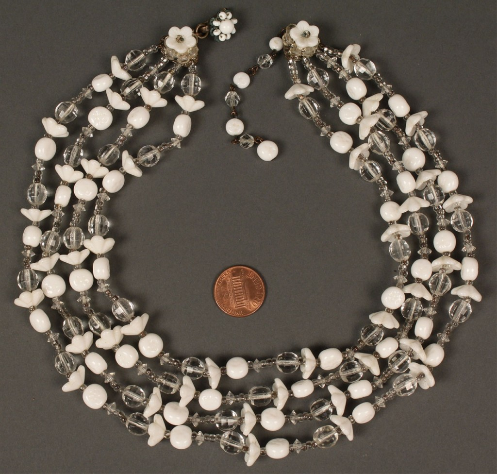 Lot 552: 4 Miriam Haskell Necklaces