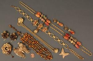 Lot 553: 10 Miriam Haskell Jewelry Items