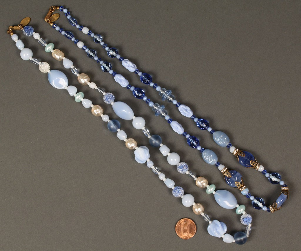 Lot 554: 7 Miriam Haskell Necklaces & 2 pair Earrings