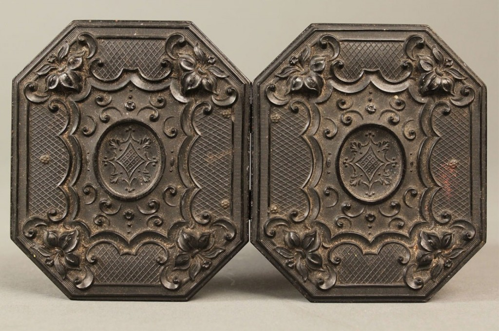 Lot 55: Pair of Civil War Tintypes in Hexagonal Case