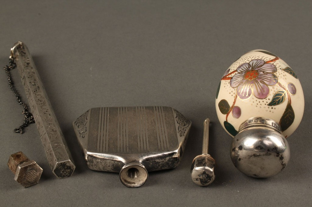 Lot 563: Lot of 3 Sterling & Porcelain ladies items