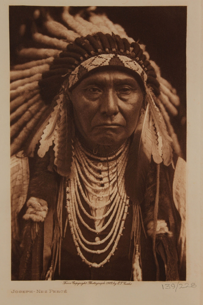 Lot 564: Two photogravures after Curtis, Chief Joseph & Mos