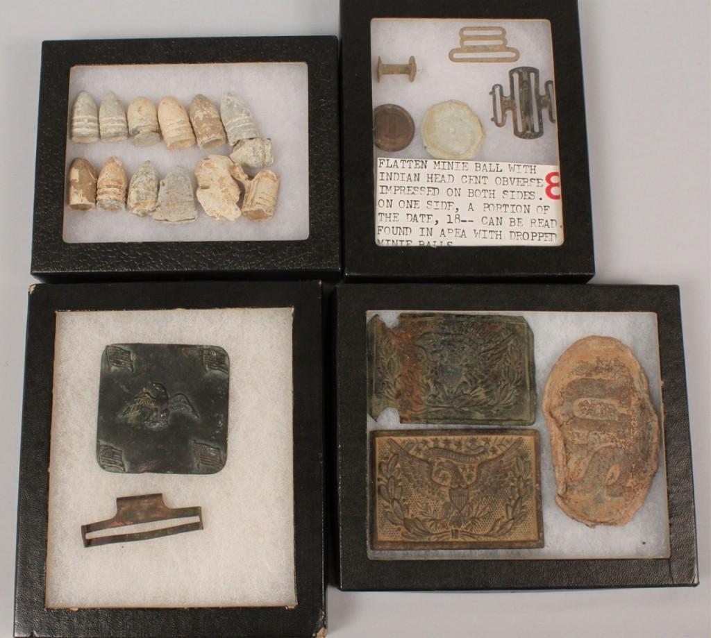 Lot 56: Grouping of Civil War Era Artifacts