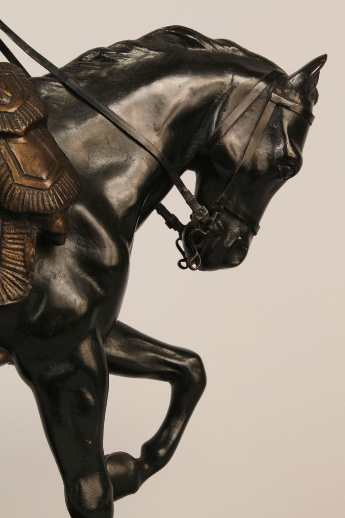 Lot 572: X. Raphanel figure of Napoleon on horseback