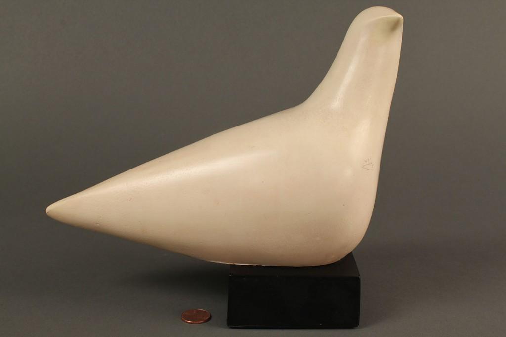 Lot 573: Cleo Hartwig Plaster dove sculpture