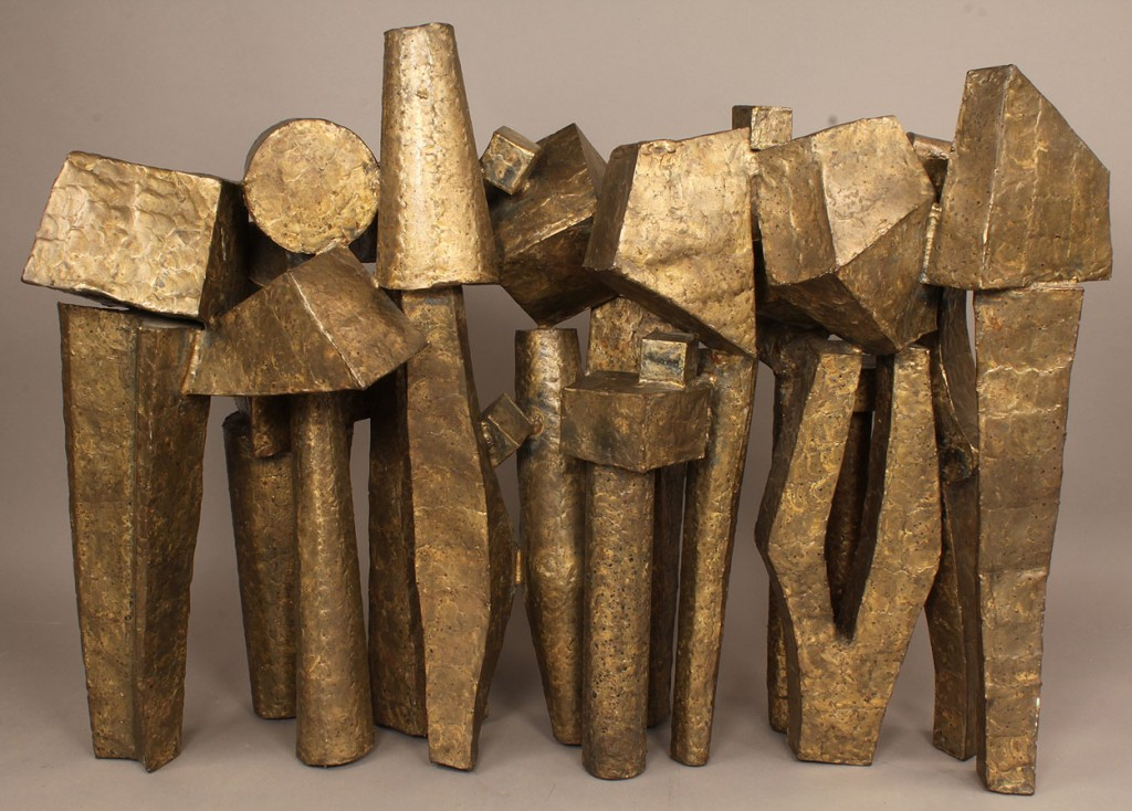 Lot 575: E. Tafur Abstract Geometric sculpture