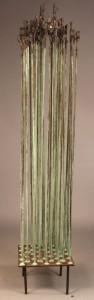 Lot 576: E. Tafur Abstract Copper Sound Sculpture
