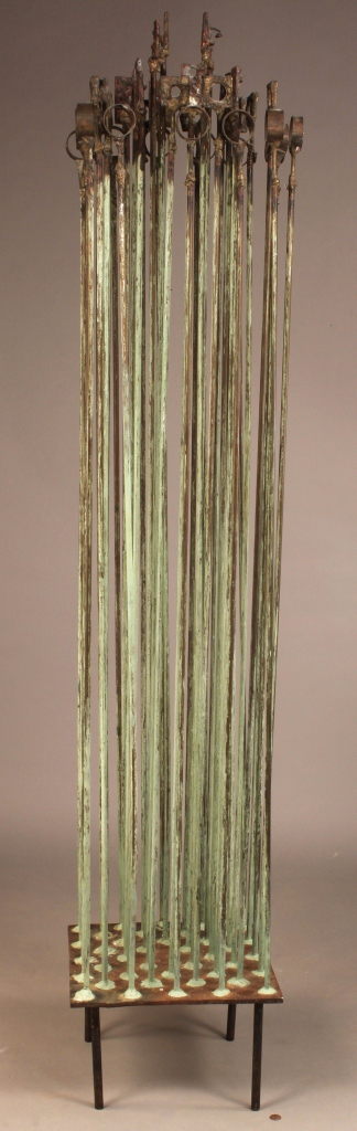 Lot 576: E. Tafur Abstract Copper Sound Sculpture