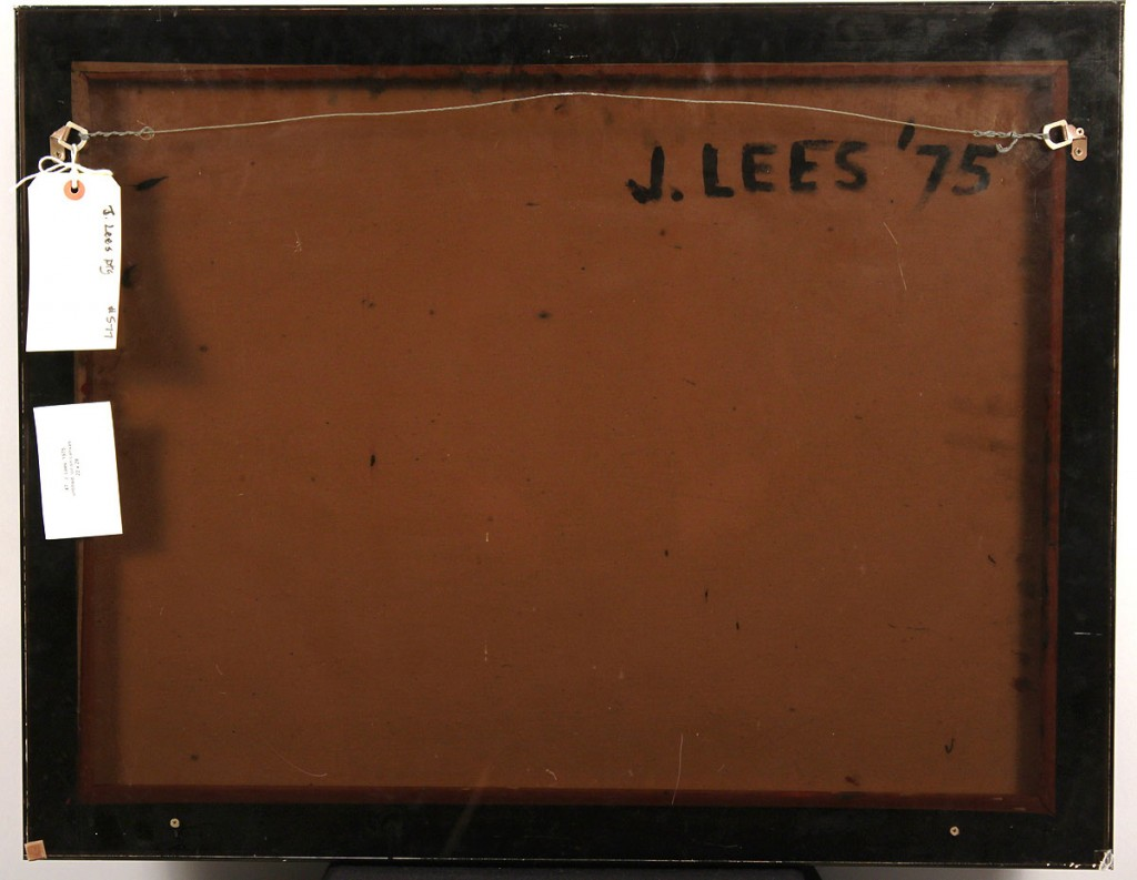 Lot 581: John Lees, abstract oil on canvas