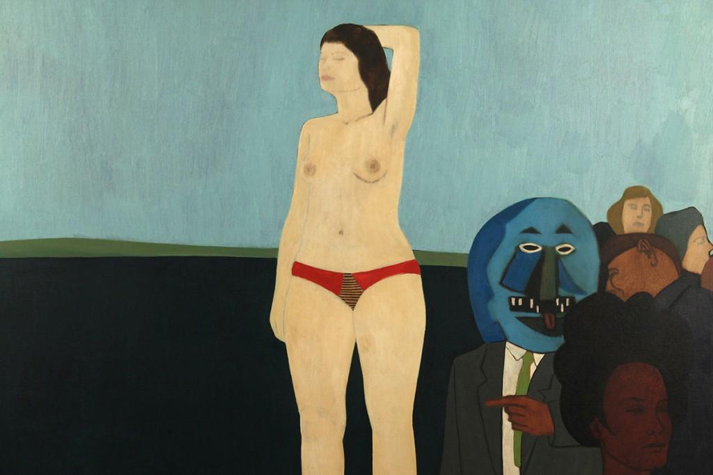 Lot 582: James Strombotne oil on canvas nude