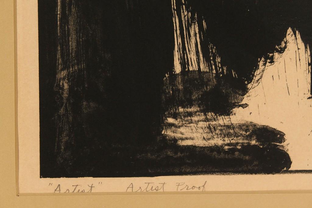 "Lot 583: J. Strombotne, Lot of 2 Prints, ""Artist"" & ""Big He"