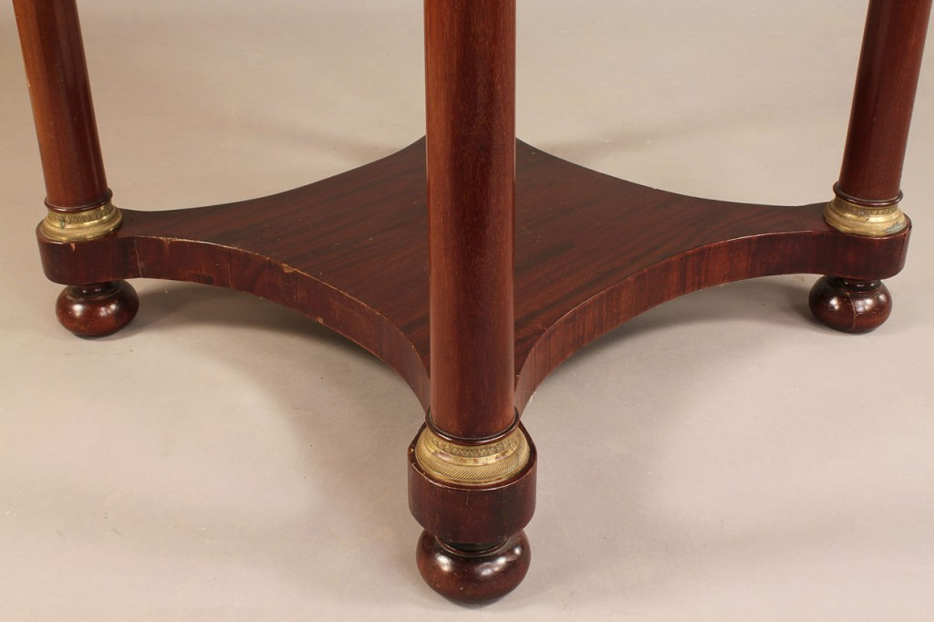 Lot 586: French Empire style center Table